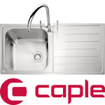View Item Caple Lyon 100 1.0 Bowl Satin Stainless Steel Kitchen Sink LHD LY100SS/L
